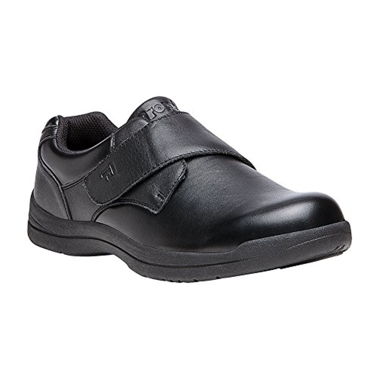 Propet Men's Marv Strap Shoe & Oxy Cleaner Bundle 13 D(M) US|Black