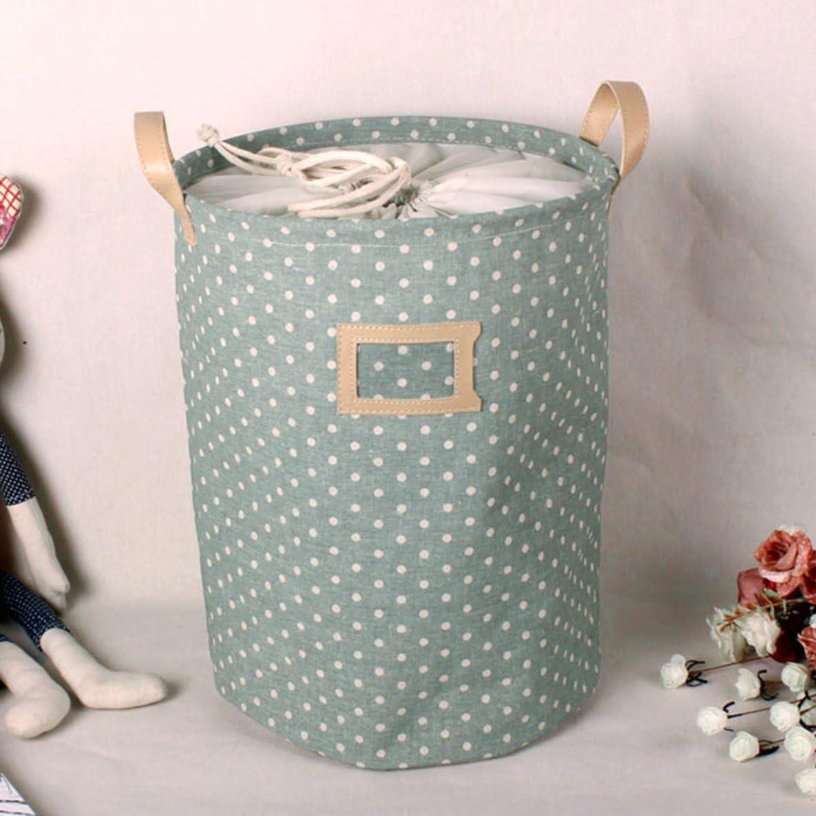 Impermeable Plegable Bolsa de lavandería Ropa Sucia Cesta Ropa de Cama Contenedor de Almacenamiento Colección de Juguetes Paño de algodón doblado Grande - Verde: Amazon.es: Hogar