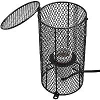 Reptile Heat Lamp Bulb with Anti-hot Cage, Reptile Heating Lamp Shade Light Heat Lamp Mesh Cover