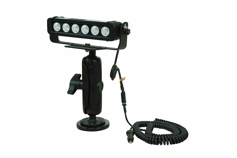 LEDライトバーW / TRUNNIONマウントonダブルボールマウントジョイント – 6 10-watt LED – 200lb。磁気ベース B00FMHQOMO