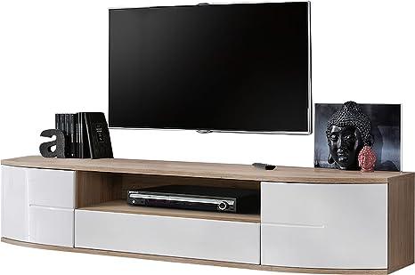 Mueble de TV Grande Tirana 2, Mesa de TV con Apertura sin Mango, Mesa de televisión, aparador, Mueble de TV, Banco de TV, Mueble de TV: Amazon.es: Juguetes y juegos