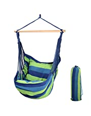 SaveOnMany ® 9Ft Double Hammock with Space Saving Steel Stand for Travel Beach Yard Outdoor Camping