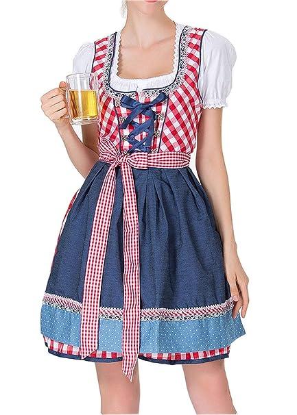 Amazon.com: GRACIN - Vestido alemán para mujer, 3 piezas ...
