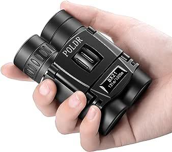 POLDR 8x21 Small Compact Lightweight Binoculars for Adults Kids Bird Watching Traveling Sightseeing.Mini Pocket Folding Binoculars for Concert Theater Opera
