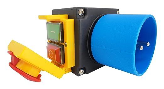 Baugleich Schalter-Stecker Kombination DZ08-1 230V mit NOTAUS Klappe KOA7
