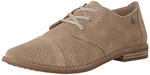 Hush Puppies Women's Aiden Clever Oxford, Light Tan Suede Perforated, ...