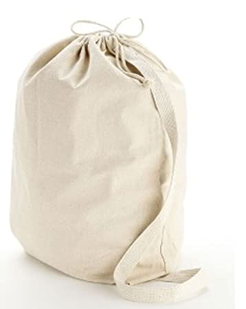 Amazon.com: Medium Natural 12 oz. Cotton Canvas Laundry Drawstring ...