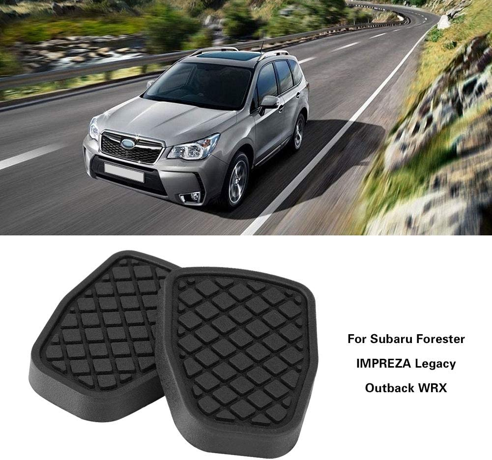 Non Slip Performance One Pair Brake Clutch Pedal Rubber Pad Cover Auto Accessories for Subaru Forester IMPREZA Legacy Outback WRX Rubber Brake Pedal