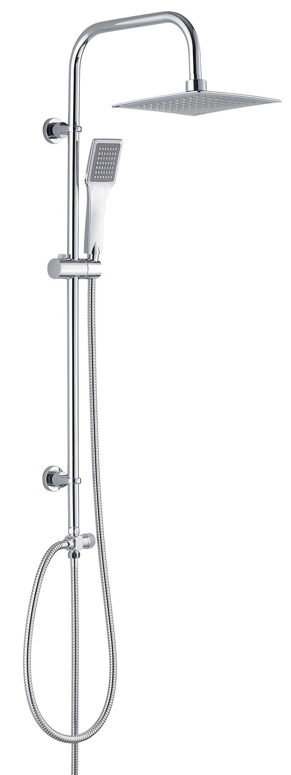 DEANTE Neo Vero Shower Pole - Plastic, Chrome, 37 x 99 cm
