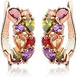 Jewels Galaxy Copper Clip-On Earrings for Women (Multi-Colour)(SMNJG-ERRG-1008)