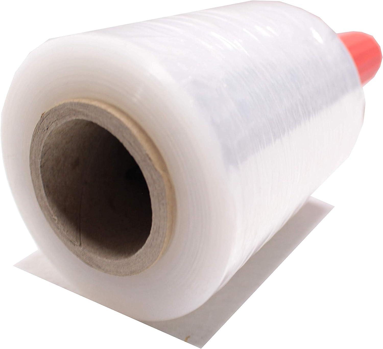 Chely Siglo    Mini Film transparente para embalar (5 MINI BOBINAS)    elástico Wrap Film    100 mm ancho X 150 metros, protector extensible para agrupació del producto, NO INCLUYE EL DISPENSADOR.