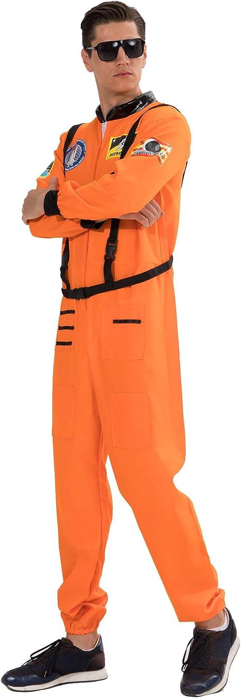 Funny Cosplay Party EraSpooky Men/'s Astronaut Costume Spaceman Suit Halloween Adult Costumes for Men