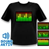 Sound Activated 10 Channel LED Equalizer T-shirt Light up Shirt