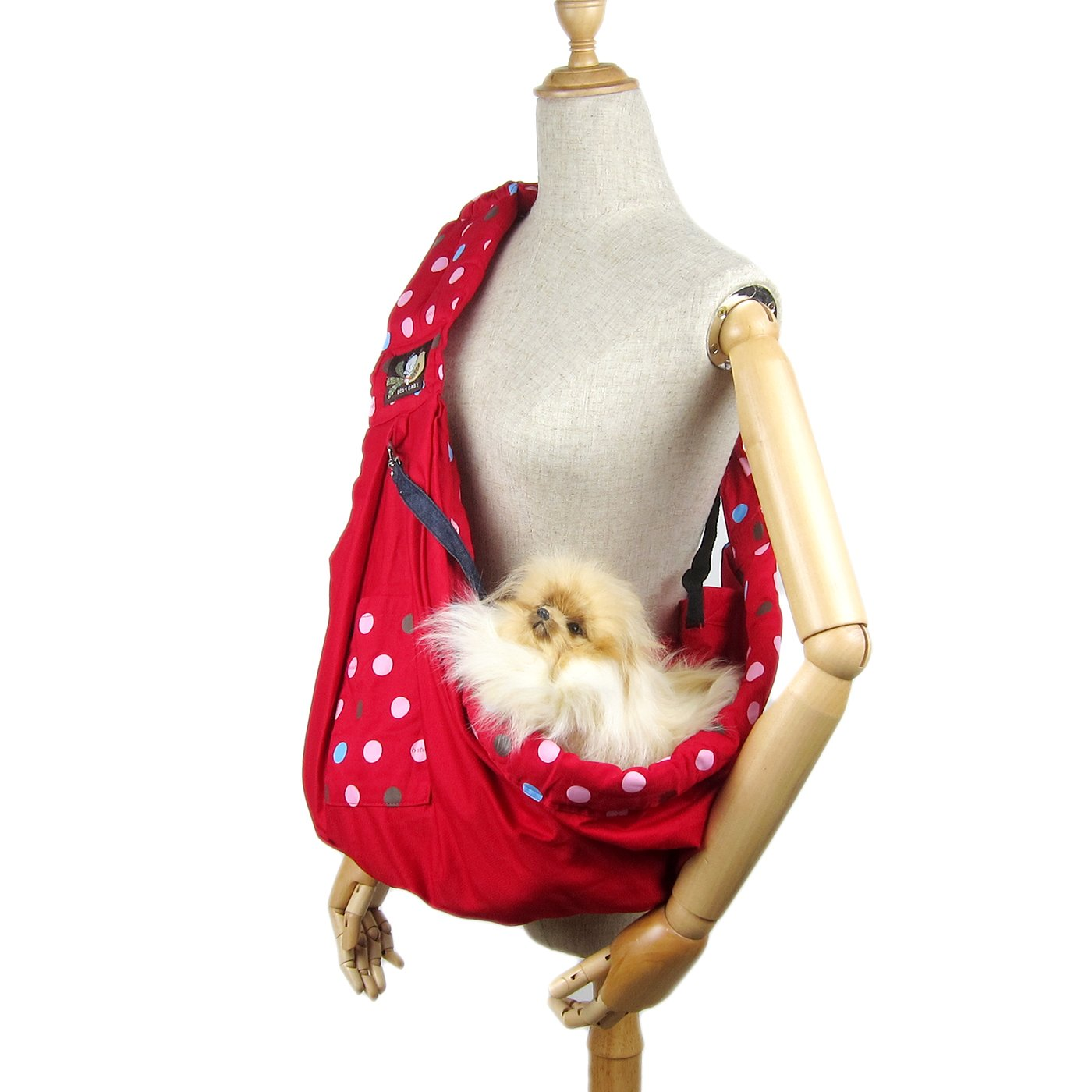 Alfie Pet by Petoga Couture - Hollis Pet Sling Carrier with Adjustable Strap - Color: Red by Alfie (Image #2)