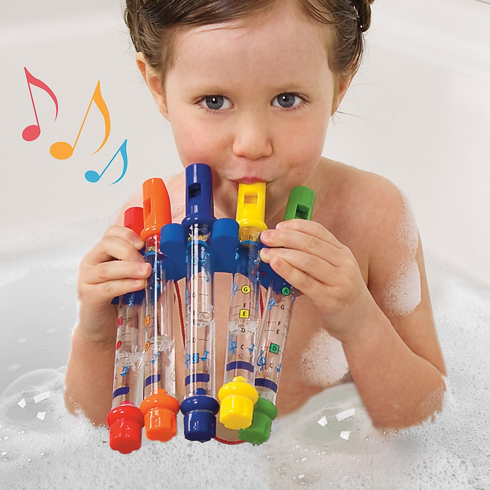 Water Flutes Whistles Music Sheets Musical Bath Time Toy Stocking Filler M Toys J0163c