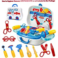 Magicwand® Pretend Play Carry Along Doctor Play Set for Kids (14 Pcs & 7 Stickers)