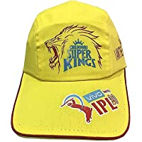 PARALLEL TIMES CHENNAI Super King CAPS for IPL Free Size Yellow