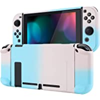 eXtremeRate PlayVital Back Cover for Nintendo Switch Console, NS Joycon Handheld Controller Separable Protector Hard…