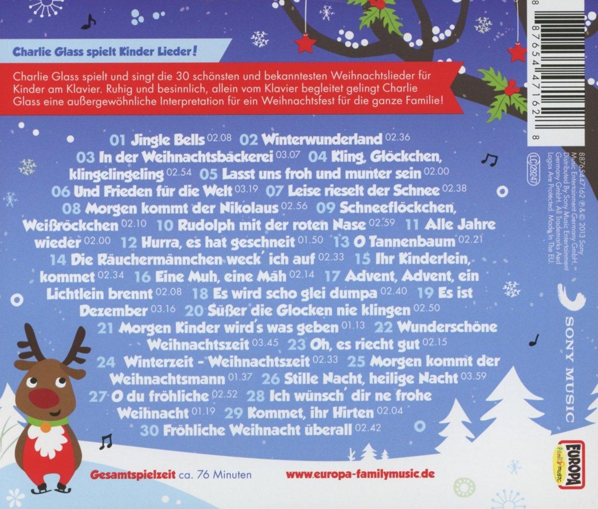 Kinder Weihnacht-die 30 Schönsten Weihnachtslieder - Charlie Glass ...