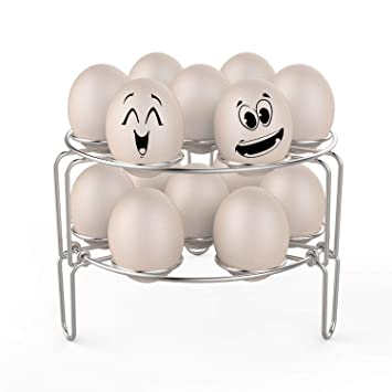 Stainless Steel Egg Steamer Rack Steaming Grid Rack Stand Storage Holder HOT