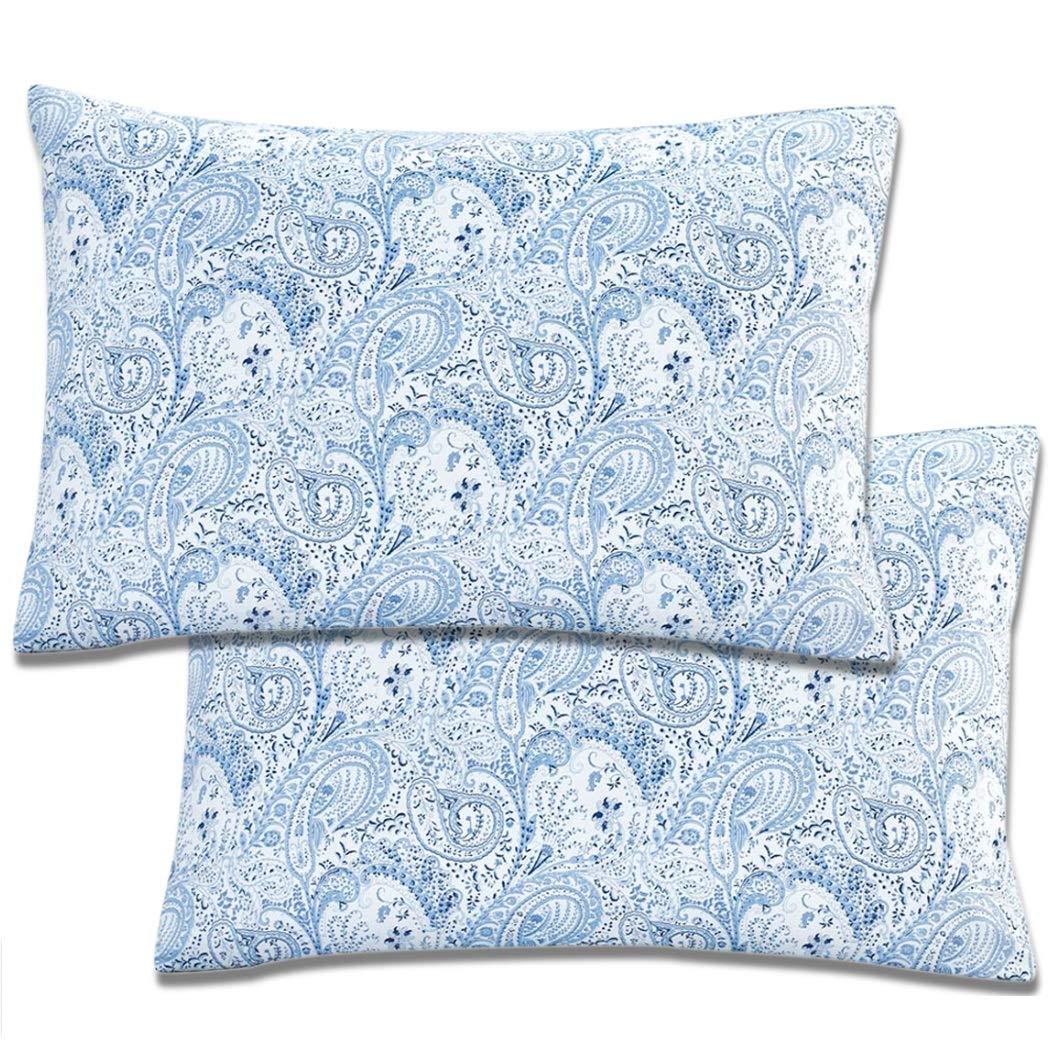 Hypoallergenic Mellanni Luxury Pillowcase Set Brushed Microfiber 1800 Bedding Stain Resistant Fade Wrinkle Set of 2 Standard Size, Black