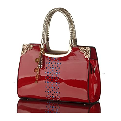 852b05d463 KDHJJOLY Practical Hot New 2016 Patent Leather Handbags Hollow Out Women  Tote Bags Fashion Shoulder Bag