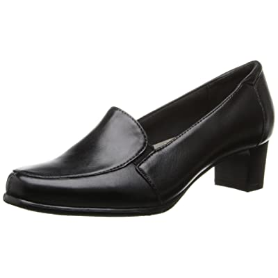 Trotters Women's Gloria, Black Leather, 8 S US | Loafers & Slip-Ons