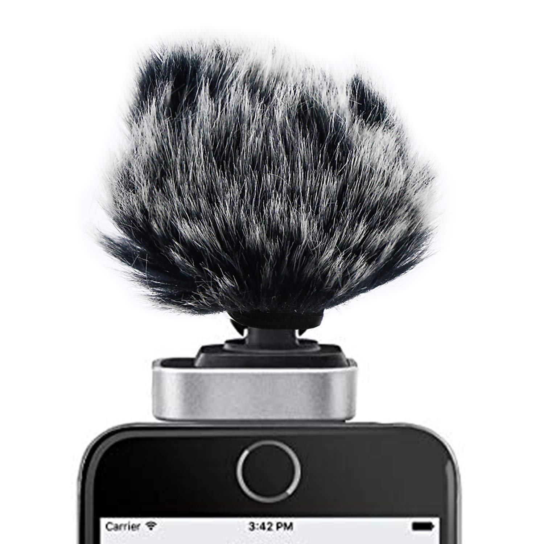 YOUSHARES Bonnette fourrure pour MV88 Pare-brise pour Microphone Pare-vent Mic Filtre Pop Custom Fit pour Shure MV88 Microphone