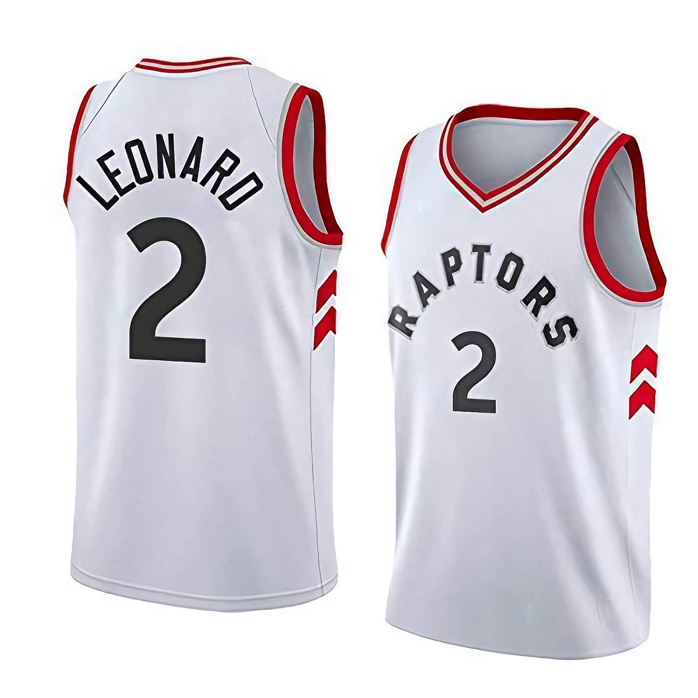 JINHAO Hombres Camiseta de Baloncesto NBA Toronto Raptors # 2 Kawhi Leonard Swingman Camiseta de Malla de Baloncesto