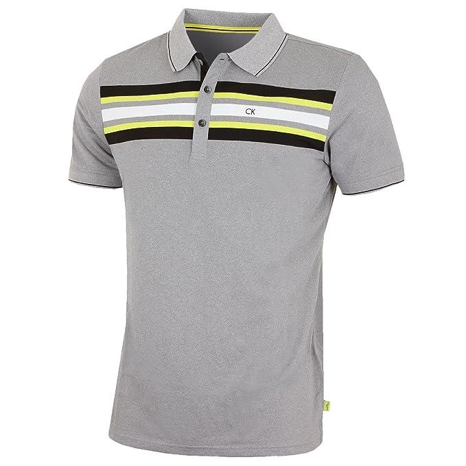 Calvin Klein - Polo - para Hombre Gris Gris Large: Amazon.es: Ropa ...