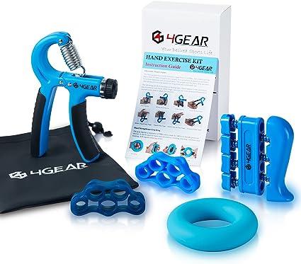 6X Hand Grip Strengthener Set Wrist Finger Forearm Exercise Resistance Grip Kit.