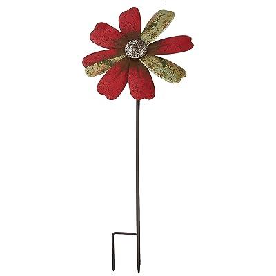 Regal Art & Gift 12297 Rustic Flower Red Wind Spinner: Garden & Outdoor