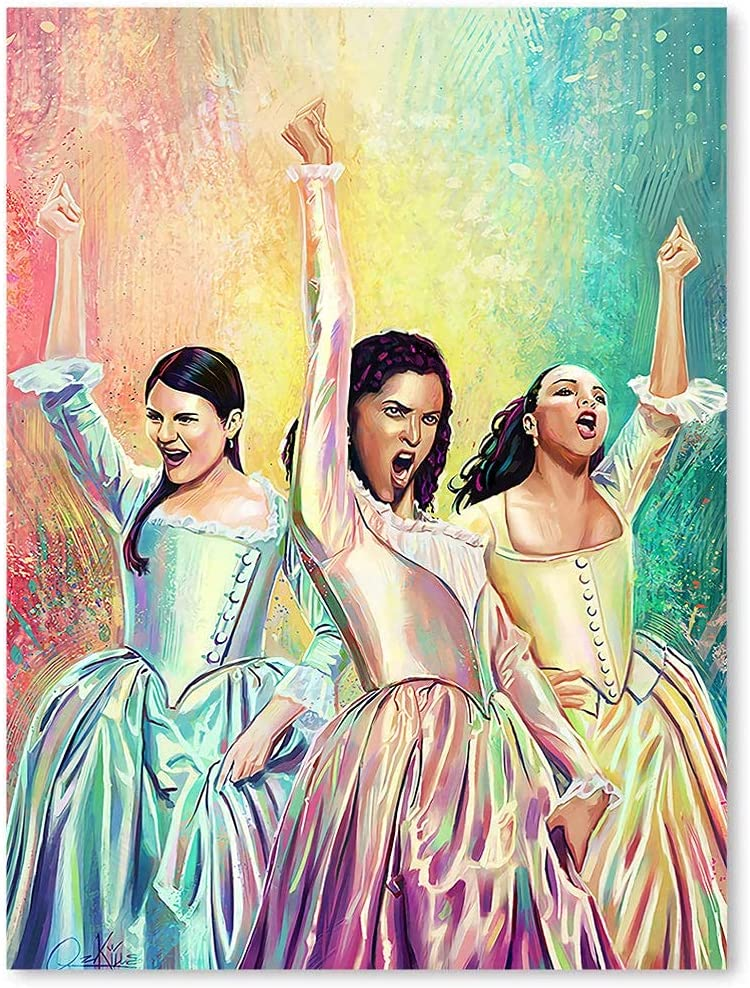 Stickers for Living Room Wall Mural Hamilton Musical Schuyler Sisters Posters Home Decor Decals 17x23inch