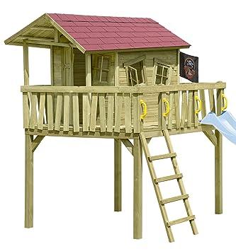 Gartenpirat Stelzenhaus Maxi Fun Spielhaus Fur Kinder Aus Holz