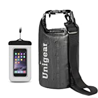 Unigear 2L/5L/10L/20L/30L/40L 600D Dry Bag Sack, Waterproof Floating Dry Gear Bags for Boating, Kayaking, Fishing, Rafting, Swimming and Camping with Waterproof Phone Case