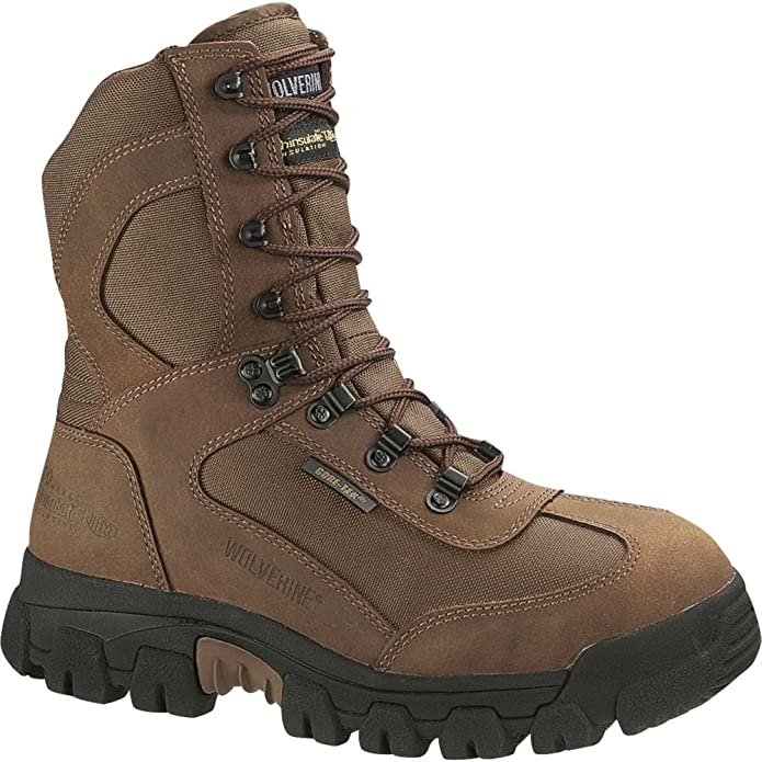Amazon.com | Men's Wolverine Men's Big Bison - Steel-Toe Waterproof 8
