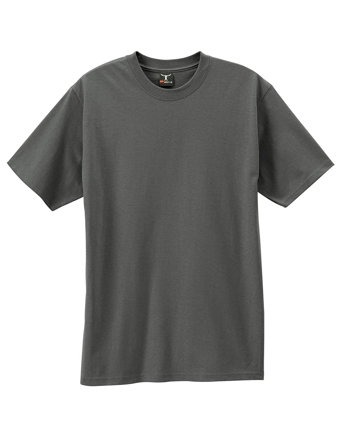 Hanes 5180 Beefy-T Adult Short-Sleeve T-Shirt XXL Charcoal Heather