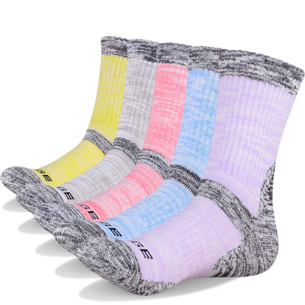 Women's Wicking Cushion Crew Multi Performance Hiking Socks by LECIEL