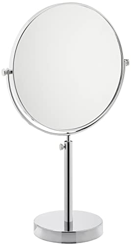 Frasco Mirrors Vanity Stand Double Sided Mirror, Chrome, 2.9 lb.