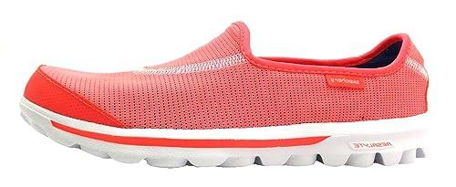 Skechers Go Walk Recover - Mocasines para mujer Naranja naranja, color Naranja, talla 36: Amazon.es: Zapatos y complementos