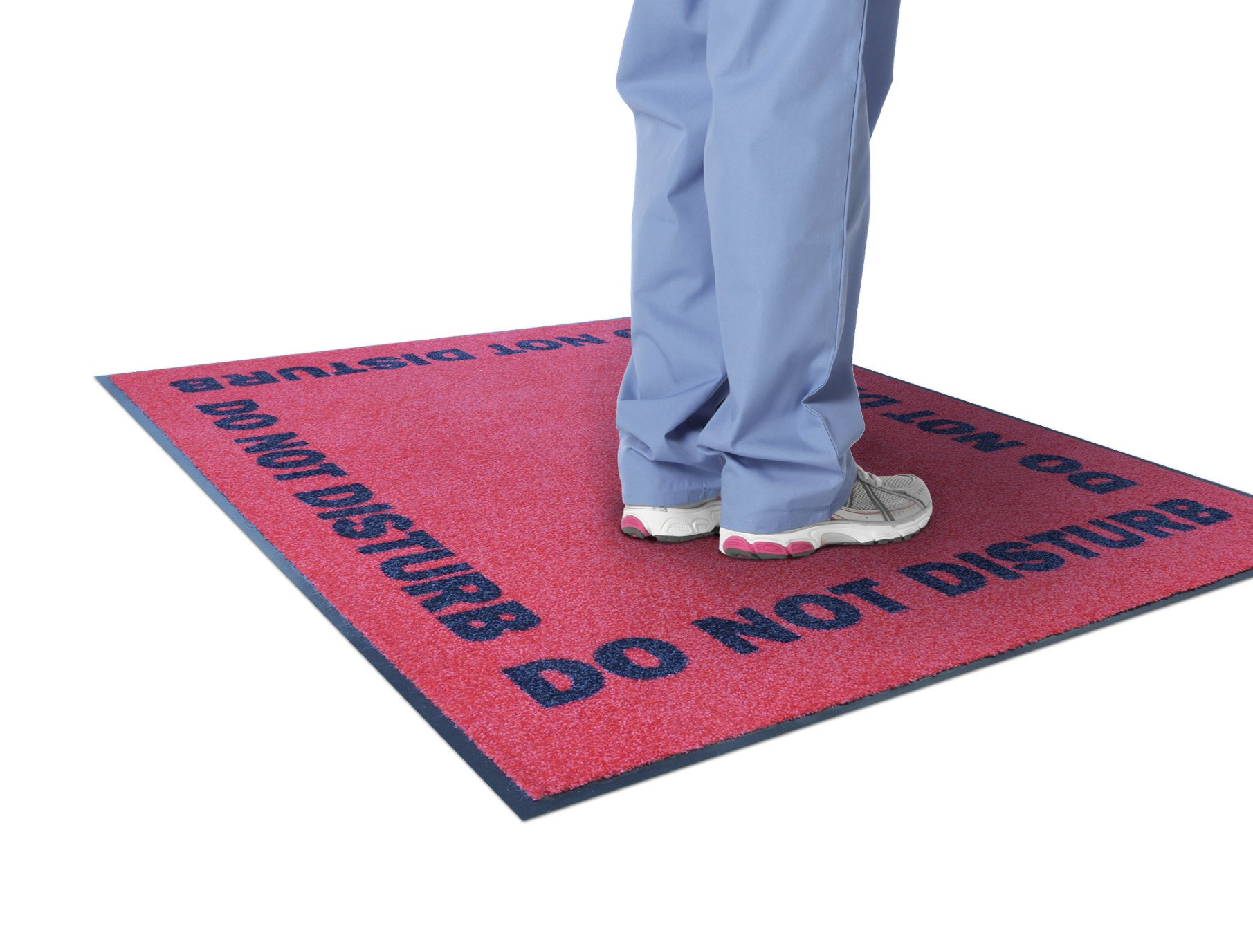 NoTrax 194SDD35RD DND (Do Not Disturb) Printed Floor Mat, 3' x 5', Red