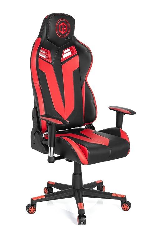 hjh OFFICE 734120 silla gaming GAMEBREAKER VR 12 piel sintética negro / rojo silla racing oficina