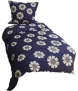 100% Baumwolle! Gelernt 2-teiliges Bettwäsche-set In Weiß Mit Blumenmuster Bettwaren, -wäsche & Matratzen