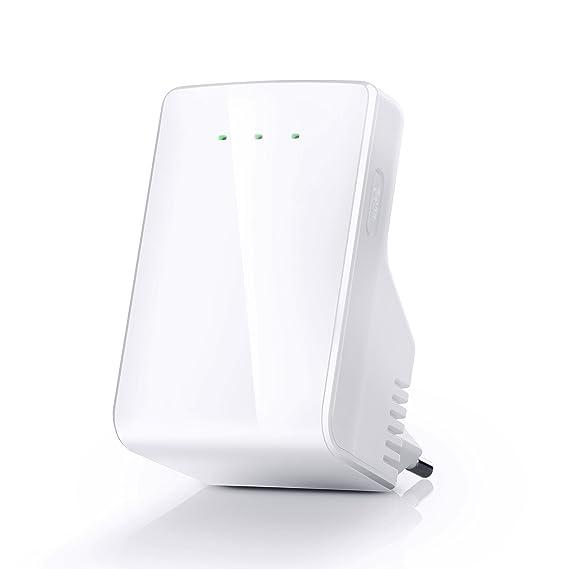 CSL - Repeater 300 Mbit WiFi / WLAN Access Point | amplificador WLAN | frecuencia de 2,4 GHz | 3 modos de servicio (repetidor, punto de acceso) | asignación ...