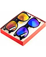 MJ Boutique's Hipster Color Mirror Lens Retro Classics Style Sunglasses - Assorted