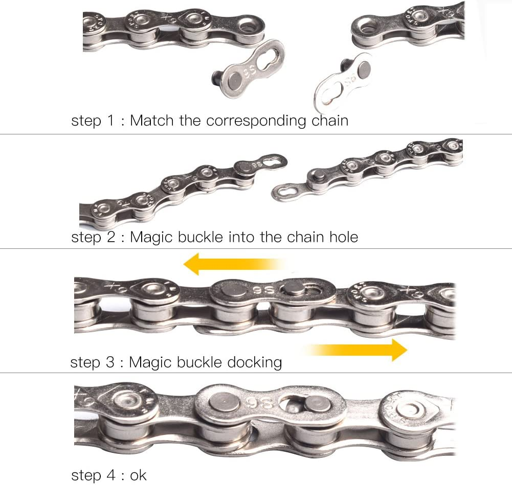 Color : 9 Speed VGEBY 5 Pairs Bicycle Chain Link Connector Link for 6-7-8 9 10 Speed ​​Quick Coupling