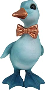 World of Wonders - Sugar Floofs - Peep - Collectible Peep The Adorable Dapper Duck with Bowtie Whimsical Fantasy Art Figurine Home Office & Garden Décor Accent | Teal + Copper, 4.5-inch