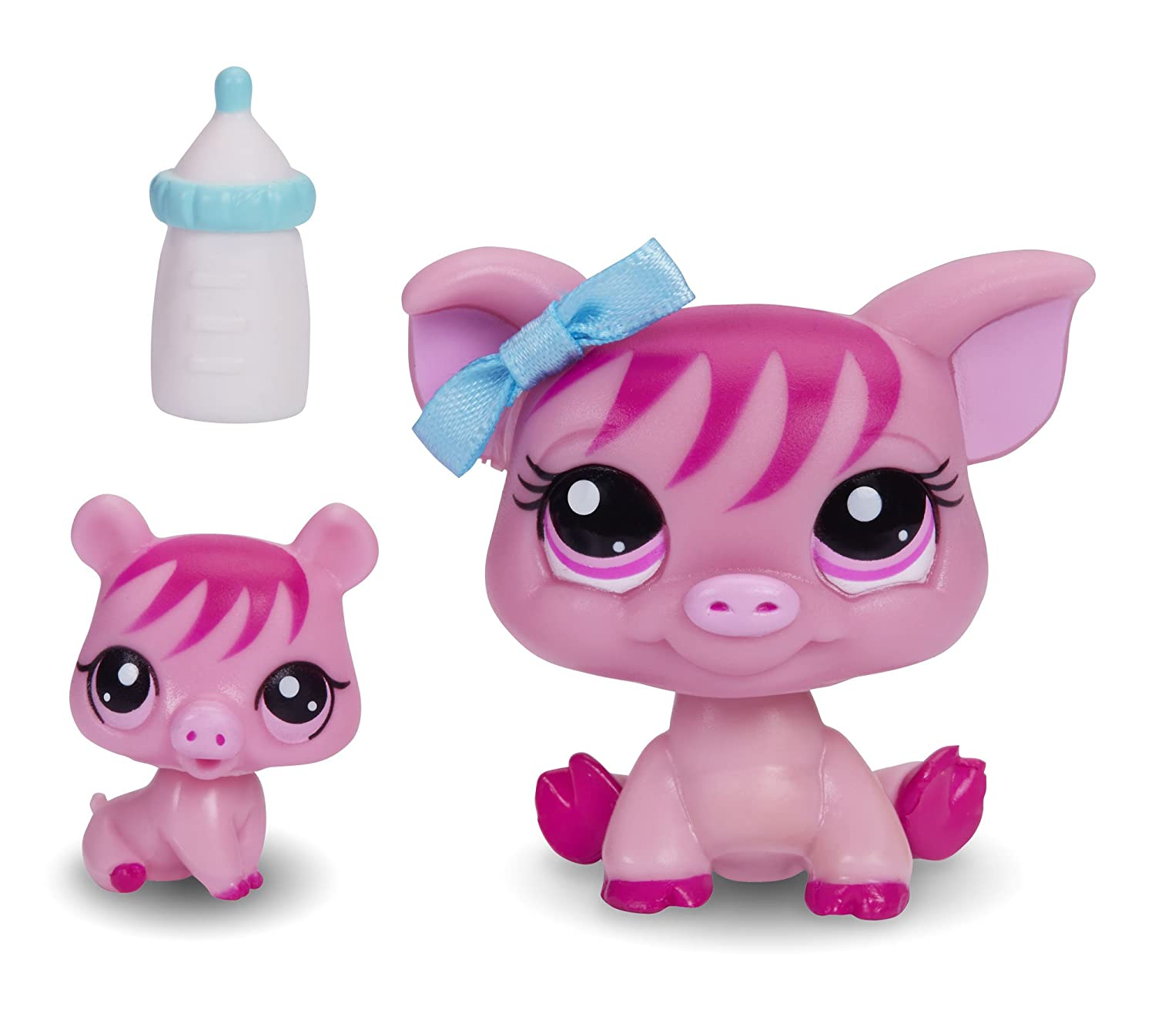 amazon com littlest pet shop figures pig and baby pig toys games