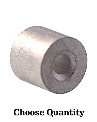 Aluminum Swage Stop for 3//32 Wire Rope Cable Aluminum Cable Stop Sleeve for 3//32 Inch Wire Rope Swage Clip Aluminum Cable Crimp Sleeves Cable Stops 3//32 Aluminum Swage Sleeves 100