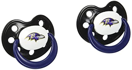 Amazon.com: NFL BALTIMORE RAVENS 2 Paquete Chupete: Sports ...